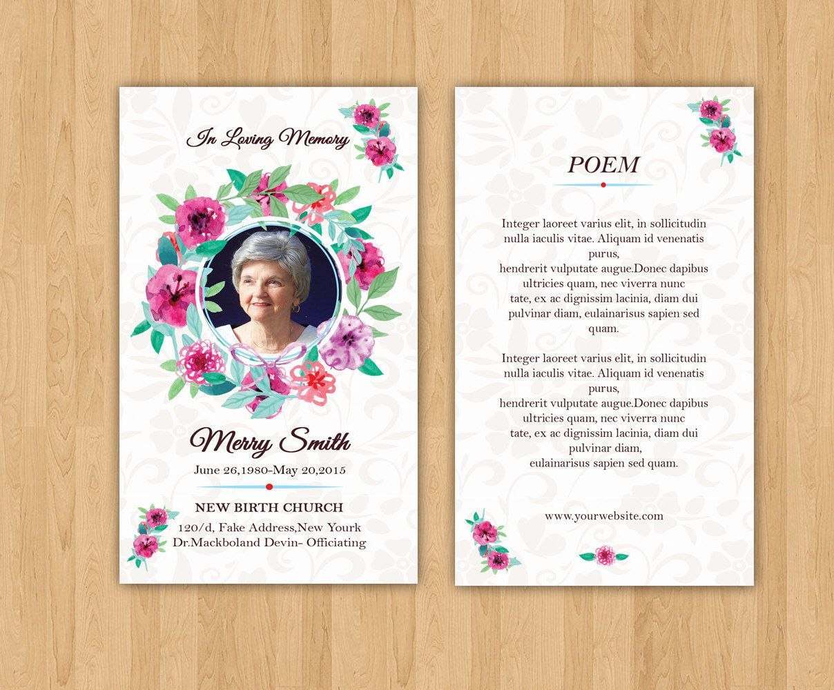 Funeral Prayer Card Template  Editable Ms Word  Photoshop Template With Regard To Prayer Card Template For Word
