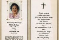 Funeral Prayer Card Template For Word within Prayer Card Template For Word
