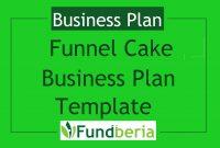 Funnel Cake Business Plan Template – Fundberia in Cake Business Plan Template