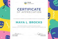 Funny Appreciation Certificate Design Template In Psd Word within Funny Certificate Templates
