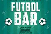 Futbol  Football  Soccer Bar Menu Card Design Template Royalty regarding Football Menu Templates