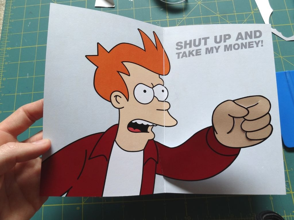Futurama Meme Gift Card  Steps With Pictures Pertaining To Shut Up And Take My Money Card Template