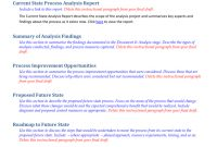 Future State Process Report Template with regard to State Report Template