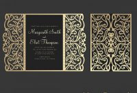 Gate Fold Wedding Invitation  X Cricut Template Quinceanera in Silhouette Cameo Card Templates
