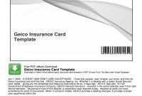 Geico Insurance Card Template  Fill Online Printable Fillable intended for Car Insurance Card Template Download