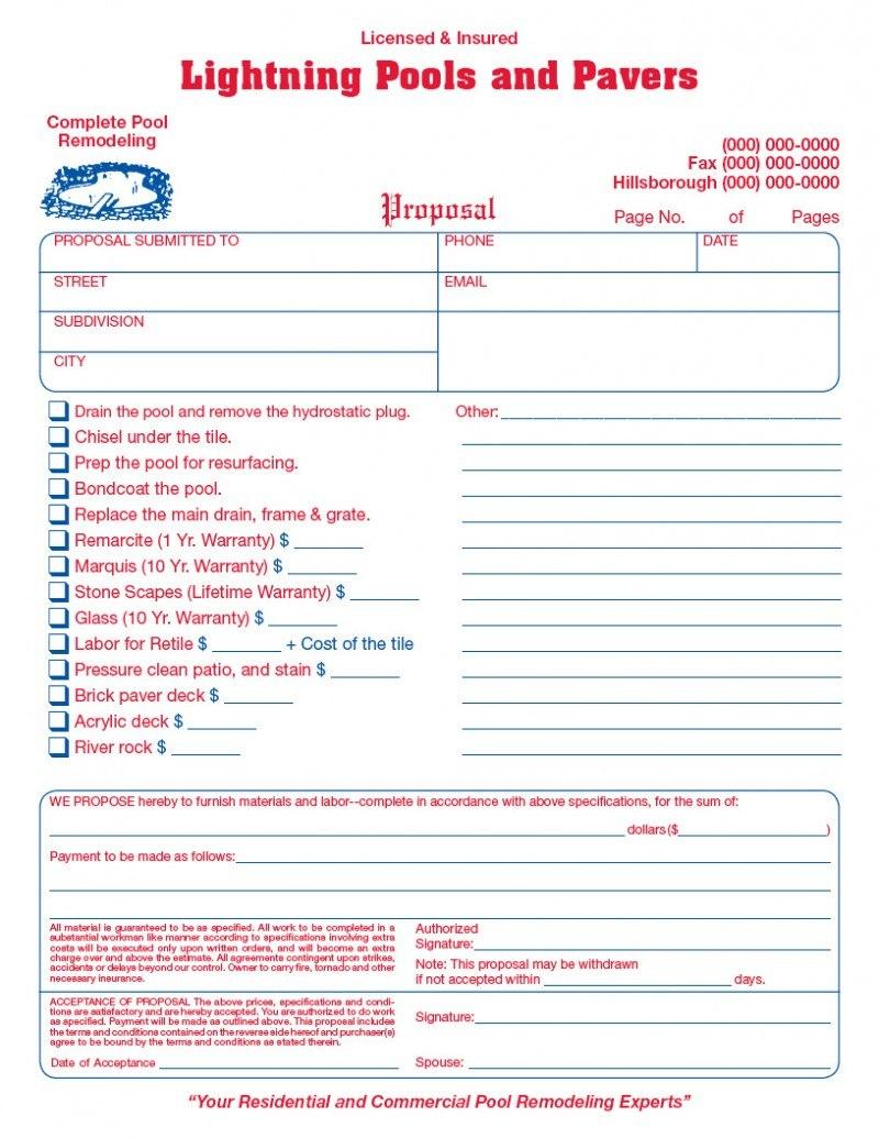 General Contractor Invoice Form Sample   Wilson Printing Usa With General Contractor Invoice Template