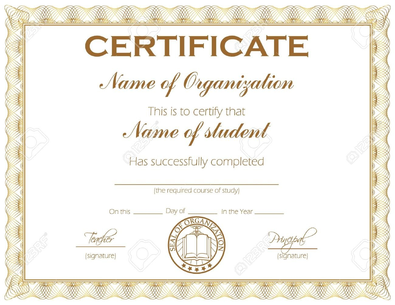 General Purpose Certificate Or Award With Sample Text That Can With Student Of The Year Award Certificate Templates