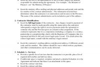 General Service Agreement Templatebanter  General Contract For pertaining to Contract For Service Agreement Template