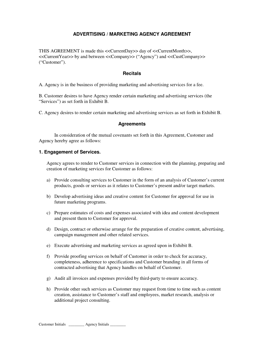 Generate And Download A Professional Seo Contract  Bonsai With Regard To Market Research Agreement Template