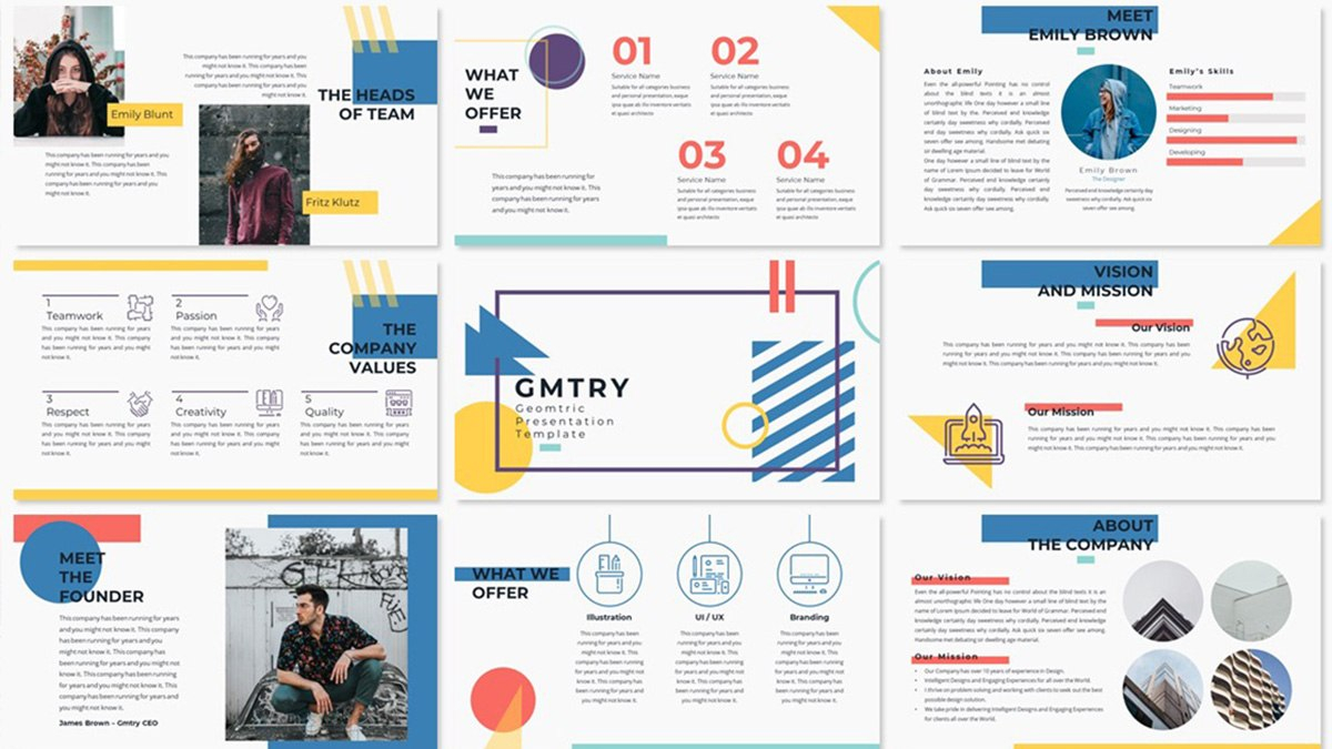 Geometric Free Powerpoint Template  Creative Presentation Throughout Fun Powerpoint Templates Free Download