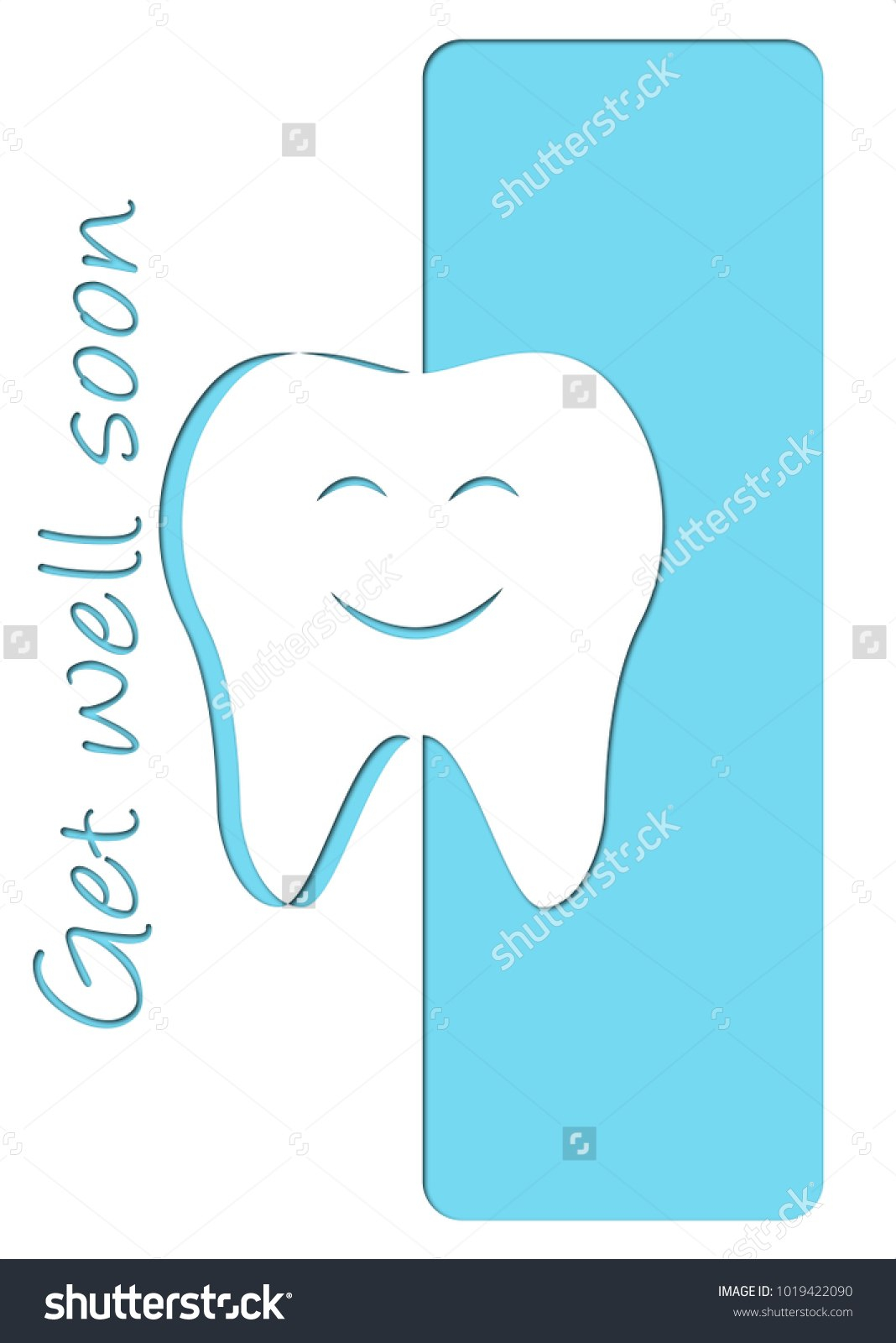 Get Well Soon After Dentist Card Stock Vector Royalty Free Intended For Get Well Card Template