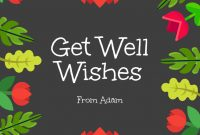 Get Well Wishes Card Template  Venngage inside Get Well Card Template