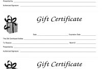 Gift Certificate Template Free  Fill Online Printable Fillable throughout Fillable Gift Certificate Template Free