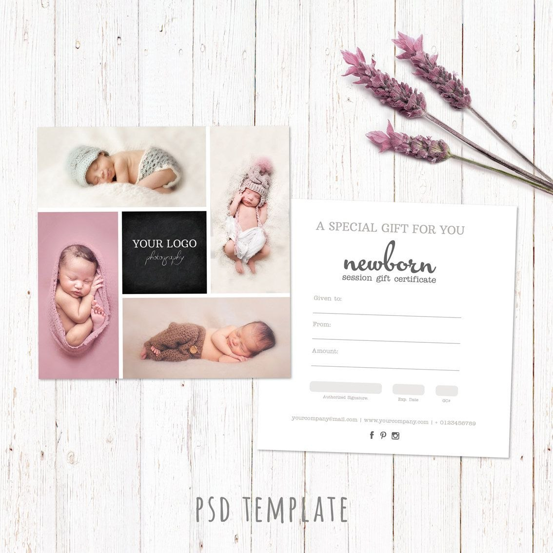 Gift Certificate Template Newborn Session Photography Gift Card Pertaining To Photoshoot Gift Certificate Template