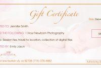 Gift Certificate Templates Certificate Templates Within Photoshoot with Photoshoot Gift Certificate Template
