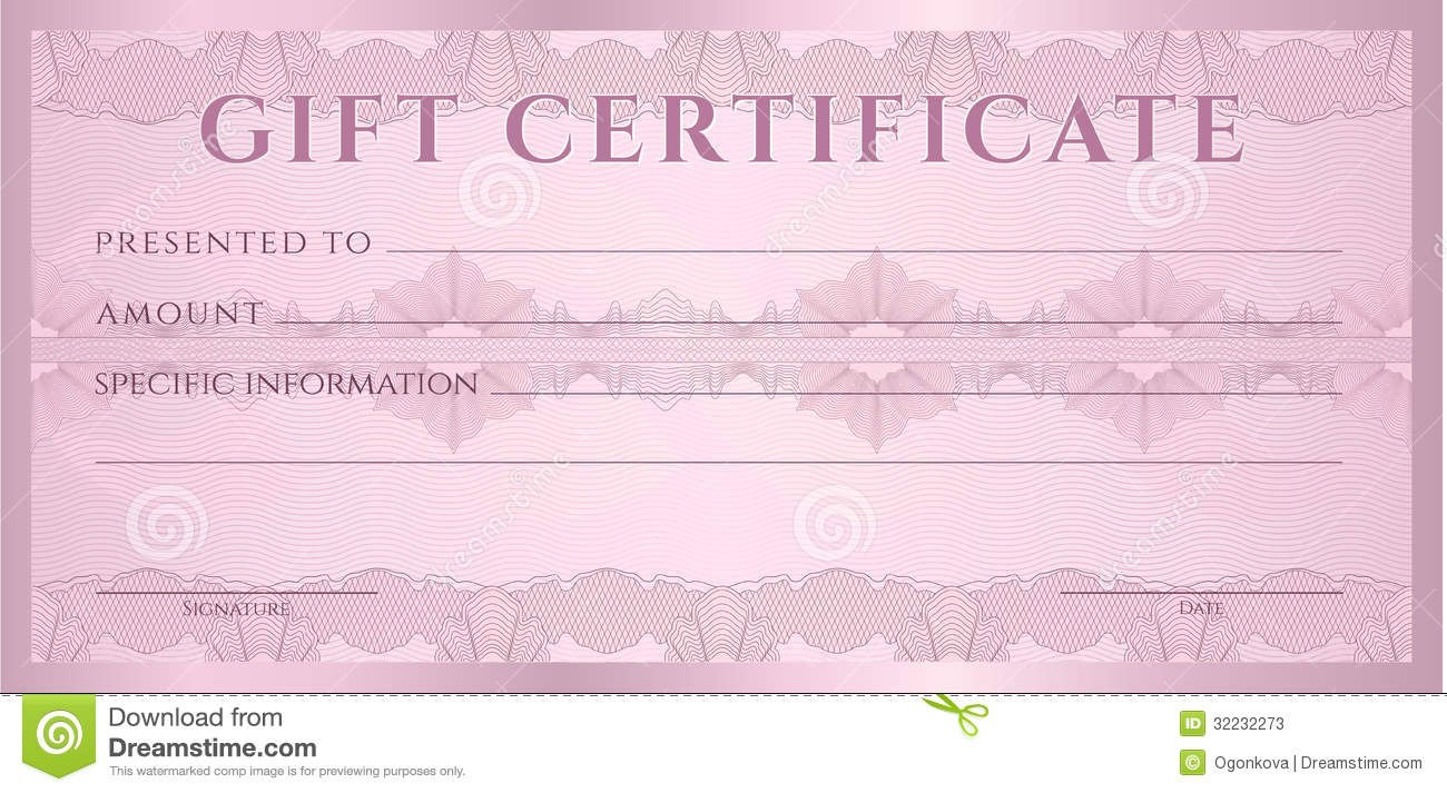 Gift Certificate Voucher Coupon Template Stock Vector Intended For Movie Gift Certificate Template