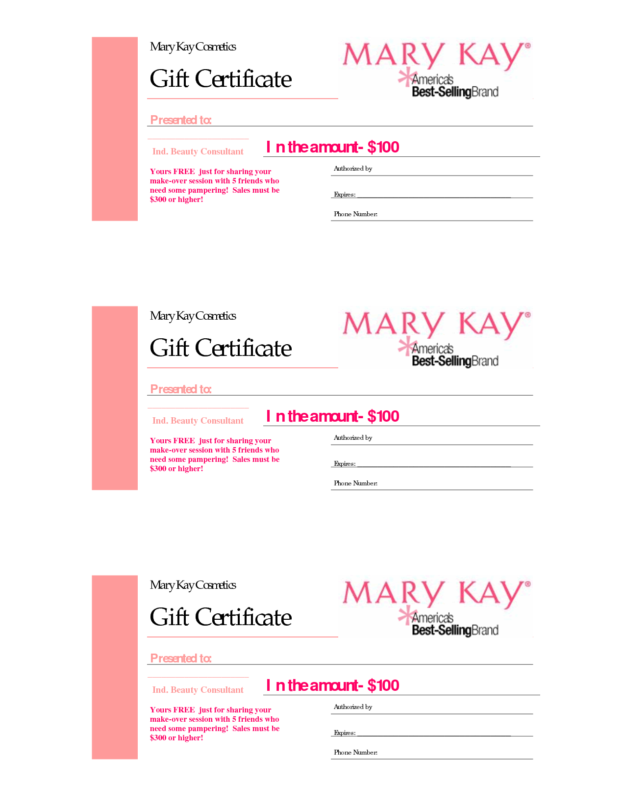 Gift Certificates  Mary Kay Gift Certificate Checo That With Regard To Nail Gift Certificate Template Free