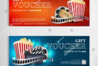 Gift Voucher Movie Template Modern… Stock Photo   Avopix within Movie Gift Certificate Template