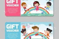 Gift Voucher Template And Modern Pattern Kids Concept Voucher inside Kids Gift Certificate Template