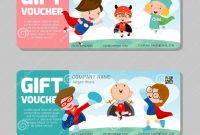 Gift Voucher Template And Modern Patternchild Concept Voucher with regard to Kids Gift Certificate Template