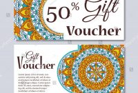 Gift Voucher Template Mandala Design Certificate Stock Vector regarding Magazine Subscription Gift Certificate Template