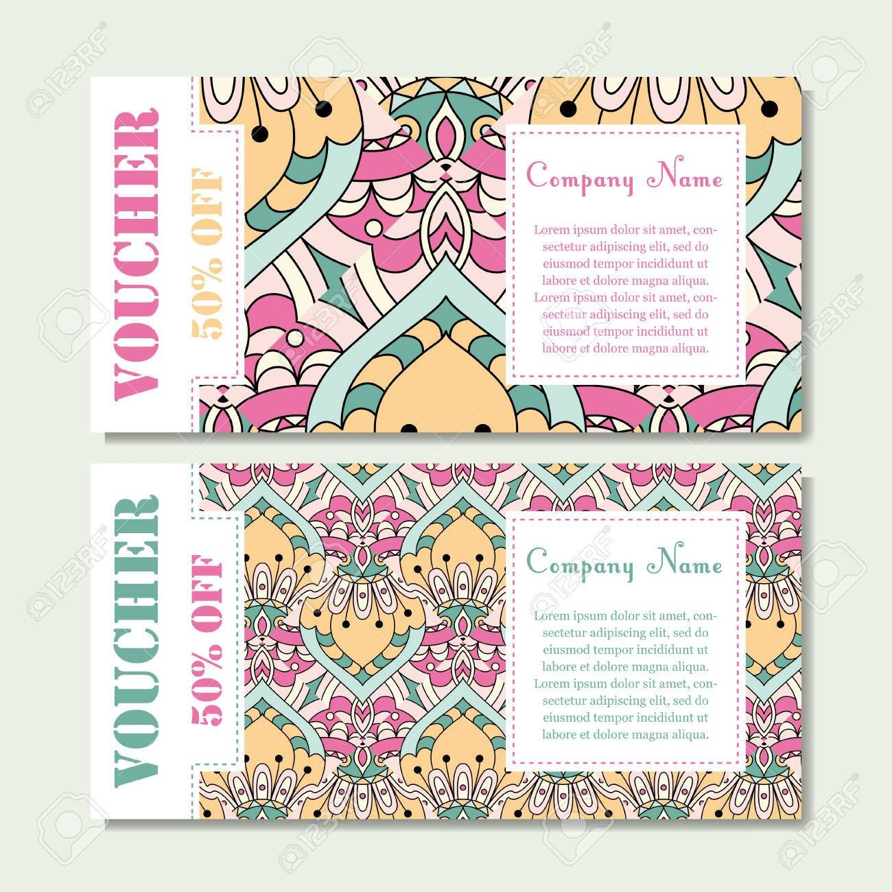 Gift Voucher Template With Mandala Design Certificate For Sport In Magazine Subscription Gift Certificate Template