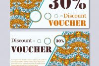 Gift Voucher Template With Mandala Design Certificate For Sport Or for Magazine Subscription Gift Certificate Template
