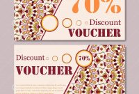 Gift Voucher Template With Mandala Design Certificate For Sport Or in Yoga Gift Certificate Template Free
