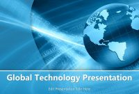 Global Technology Powerpoint Template  Powerpoint Templates regarding Powerpoint Templates For Technology Presentations