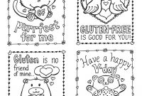 Glutenfree Valentine's Day Cards Plus A Mini Kidsize Giveaway within Valentine Card Template For Kids
