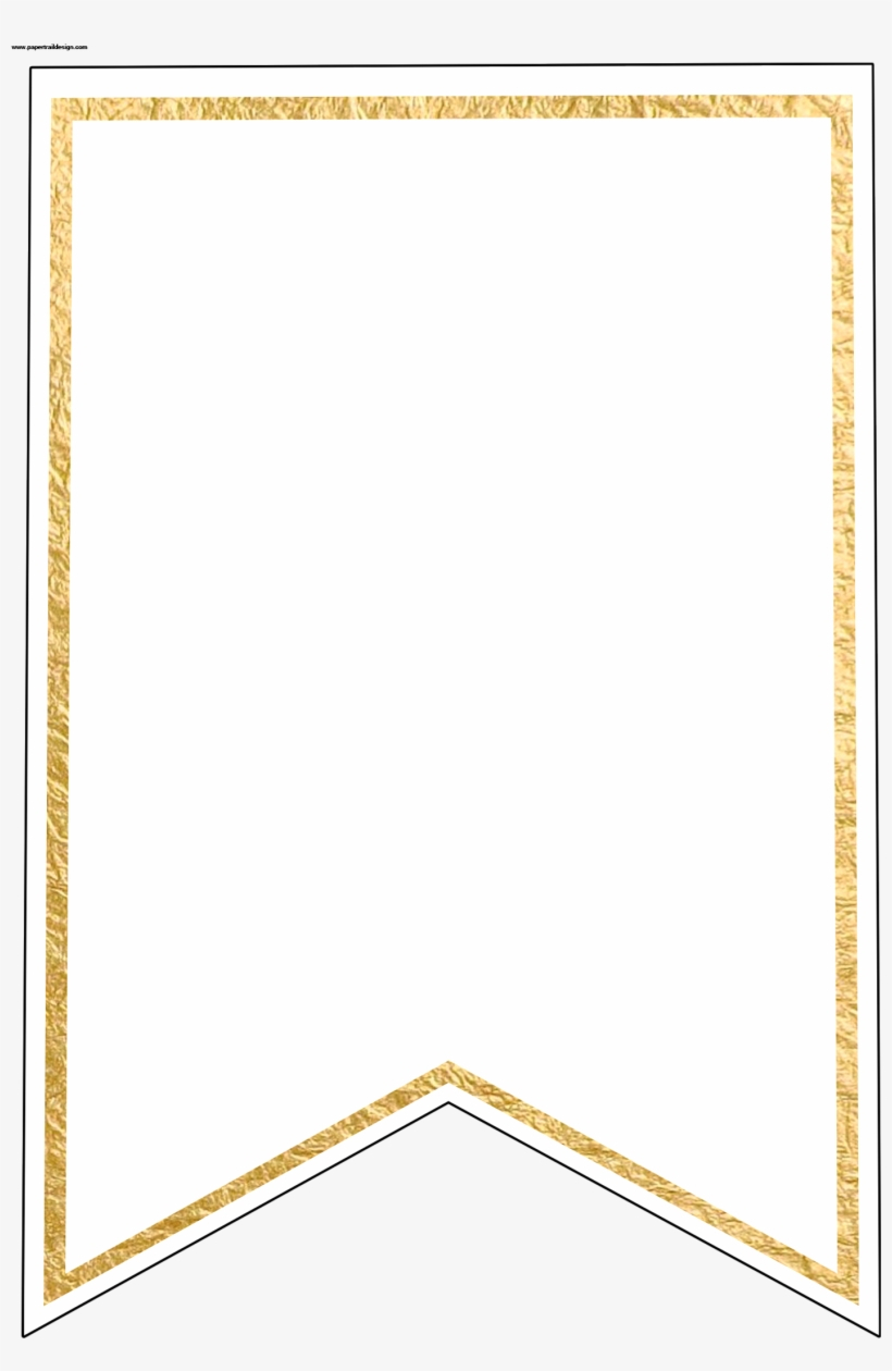 Gold Pennant Banner Blank Template Flag Banner Template  Free With Regard To Free Letter Templates For Banners