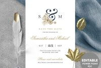 Gold Save The Date Template Editable Save The Date Printable  Etsy in Save The Date Powerpoint Template
