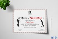 Golf Appreciation Certificate Design Template In Psd Word throughout Golf Certificate Template Free