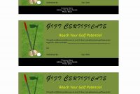 Golf Gift Certificate in Golf Certificate Templates For Word