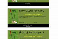 Golf Gift Certificate inside Golf Certificate Template Free