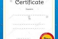 Good Job Certificates  Toha for Good Job Certificate Template