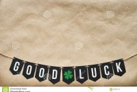 Good Luck Banner Lettering Stock Image Image Of Craft within Good Luck Banner Template