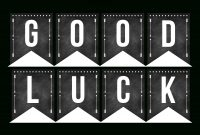 Good Luck Banner Template Best Template Examples  Sweet Eats with Good Luck Banner Template