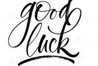 Good Luck Lettering Stock Vector Illustration Of Goodbye for Good Luck Banner Template