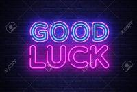 Good Luck Neon Sign Vector Good Luck Design Template Neon Sign inside Good Luck Banner Template
