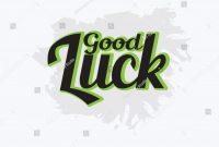 Good Luck Vector Hand Written Text Stock Vector Royalty Free with regard to Good Luck Banner Template