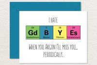 Goodbye Card Printable  Funny Goodbye Card  Nerdy Goodbye  Etsy in Goodbye Card Template