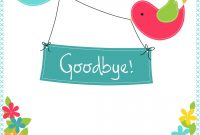 Goodbye From Your Colleagues  Good Luck Card Free  Greetings Island for Goodbye Card Template