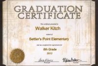 Grade  School Printable Second Grade Diploma Th Grade Graduation Regarding 5Th Grade Graduation Certificate Template