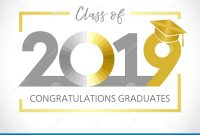 Graduating Class Of  Vector Illustration Stock Vector with regard to Graduation Banner Template