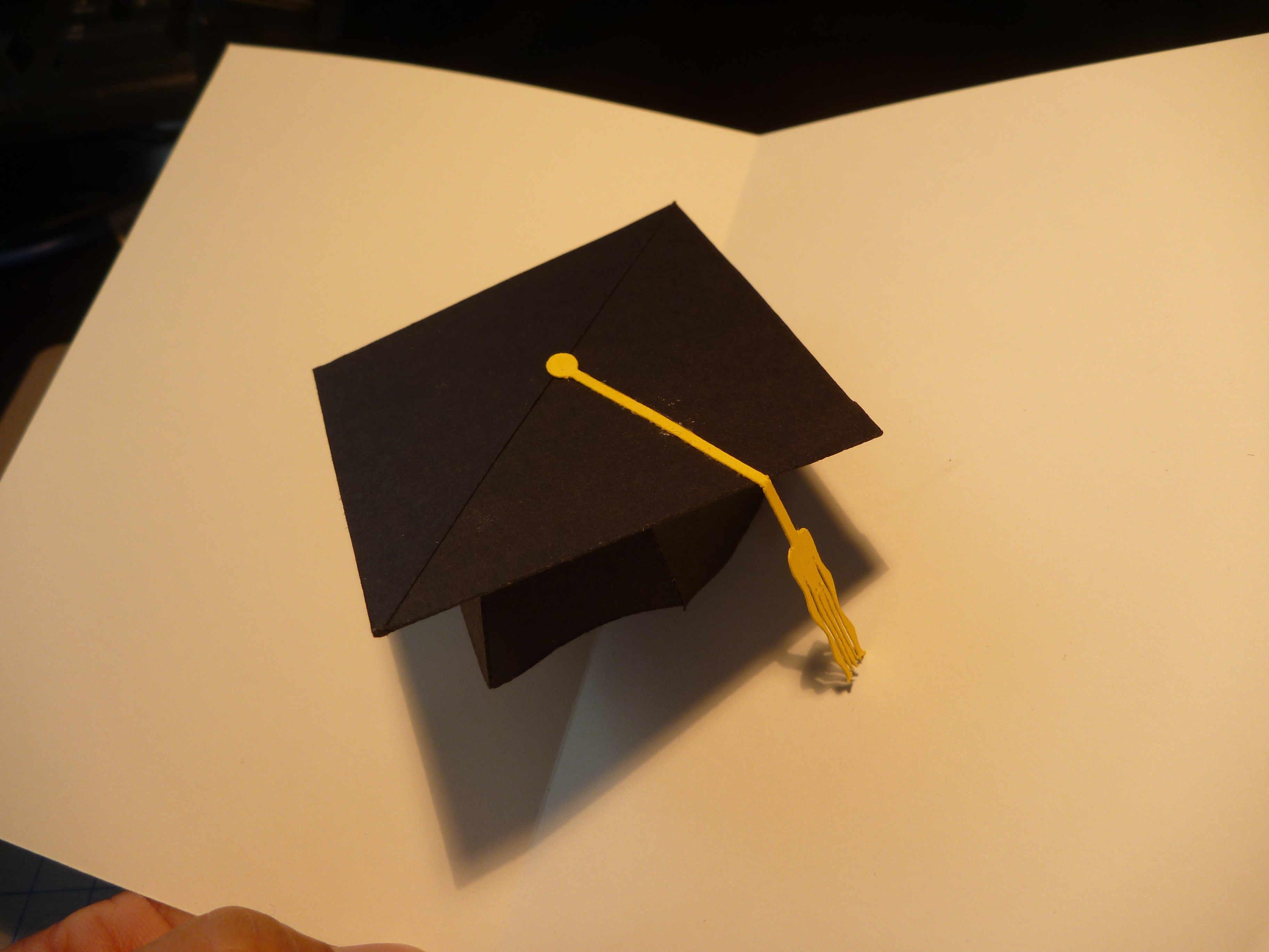 Graduation Pop Up Card D Cap Tutorial  Creative Pop Up Cards Pertaining To Graduation Pop Up Card Template