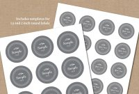 Gray Spice Labels Template  Pantry Labels Spice Jar Labels   Etsy inside Pantry Labels Template
