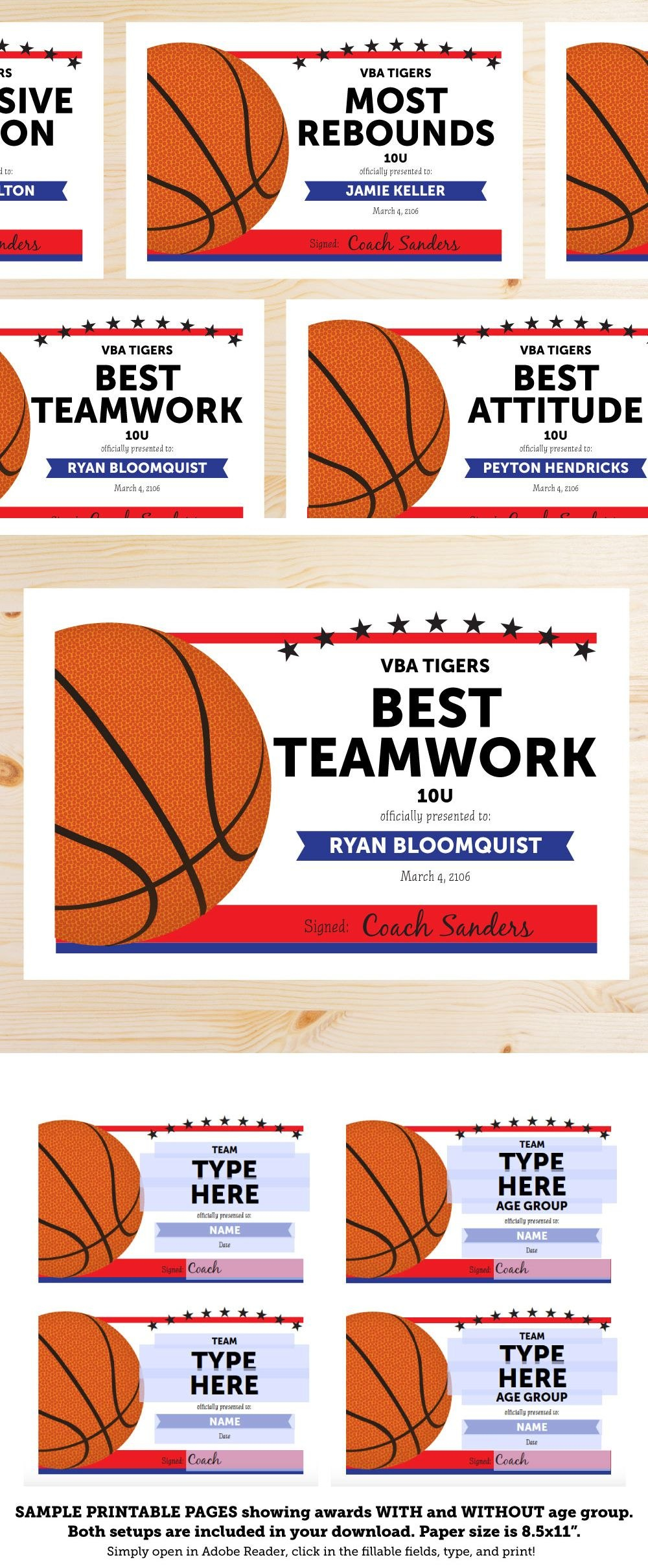Great List Of Basketball Award Categories And Editable Basketball Pertaining To Basketball Camp Certificate Template