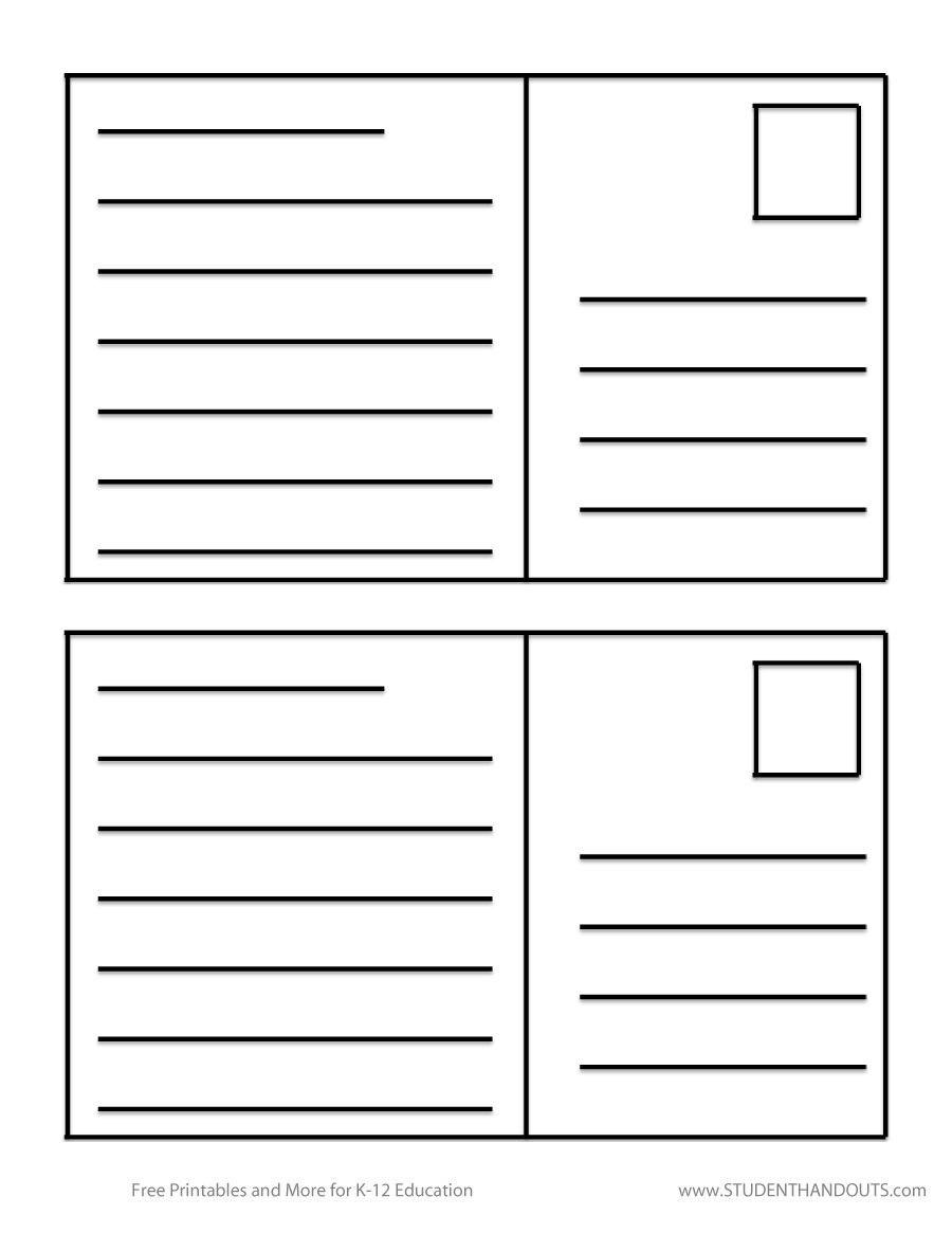 Great Postcard Templates  Designs Word  Pdf ᐅ Template Lab Throughout Free Blank Postcard Template For Word