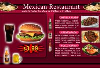 Great Templates For Any Type Of Restaurant  The Digital Menu Board for Digital Menu Board Templates